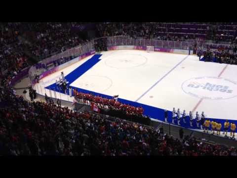 Team Canada's medal ceremony