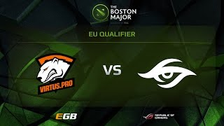Virtus.pro vs Secret, Game 1, Boston Major EU Qualifiers