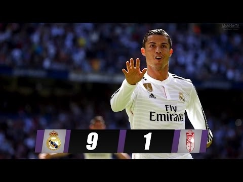 Real Madrid Vs Granada 9-1 - All Goals & Extended Highlights - 5.4.2015 HD 1080i - The Day Of CR7