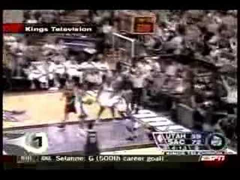 Ronnie Price dunks on Carlos Boozer