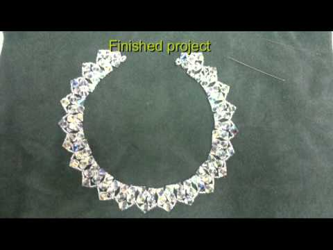 Beading4perfectionists : 8mm Swarovski beaded necklace beginners & advanced duo tutorial