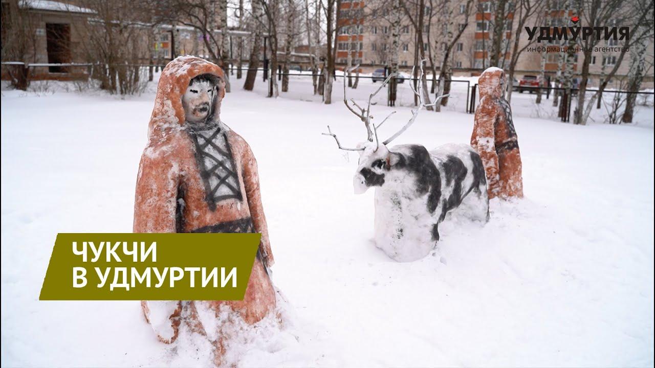 Дворник-художник Семен Бухарин создал снежные скульптуры