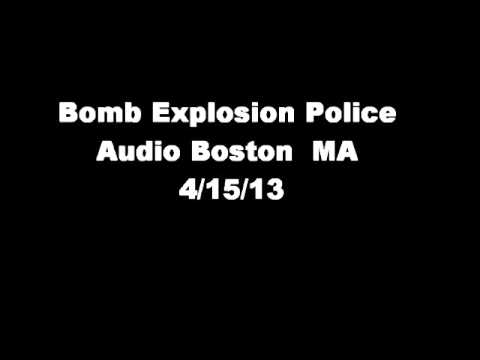 audio - Boston Marathon Bombing Police Audio 4/15/13 The audio has been edited. Audio used under a creative common license from Radioreference.com.
