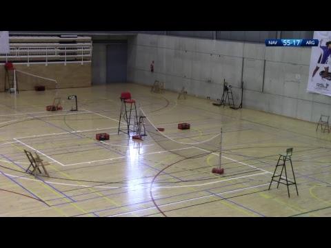 Badminton. Estella. Pistas 2, 3 y 4 Máster Nacional Absoluto 7* y Sub 11 5*