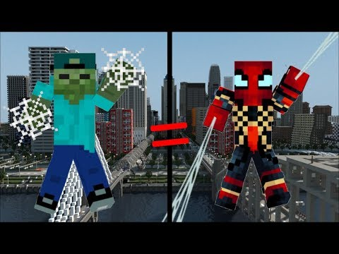 FRIENDLY ZOMBIE MARK BECOMES THE NEW ULTIMATE SPIDERMAN IN MINECRAFT !!!!