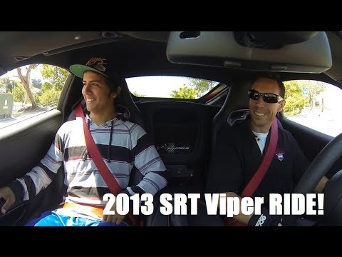 srt - Taking this lucky neighborhood kid, (ivan) for a ride in the new 2013 SRT Viper. did he enjoy his ride? you decide! commit below...