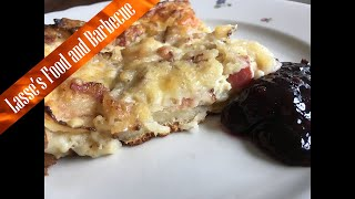 Easy oven pancake on the Weber q1200 Swedish fläskpannkaka goes back ages. My grandma made it once a week when i grew...