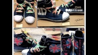 DIY: One Direction Shoes! - YouTube