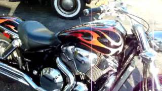 9. 2006 Honda VTX 1800 Custom, flame paint job, Spec 3 (most chrome option available from Honda!)