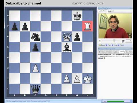 chess - Daniel King demonstrates Anand vs Hammer from round 8 of the Norway Chess Tournament.. Click here for Daniel King's latest Power Play DVDs: http://chessbase-...