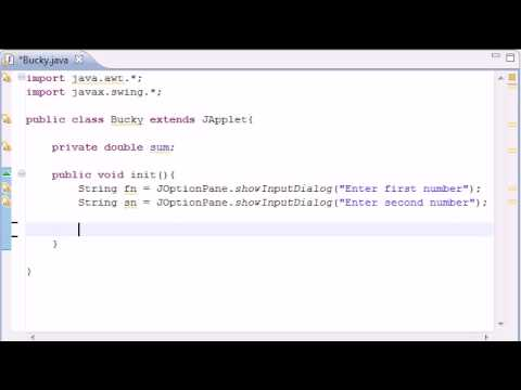 Java - init for Applets