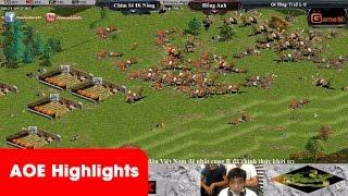 AOE HighLights - Màn Solo Cung R Phoenician của 2 tay cung R hàng đầu Việt Nam, game đế chế, clip aoe, chim sẻ đi nắng, aoe 2015