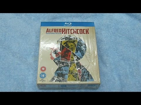 Alfred Hitchcock: The Masterpiece Collection Blu-ray UK Unboxing With Disc Menu