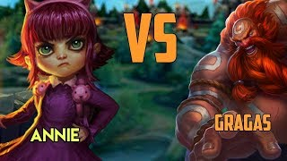 Video AP Gragas vs Annie || Full Gameplay MP3, 3GP, MP4, WEBM, AVI, FLV September 2019