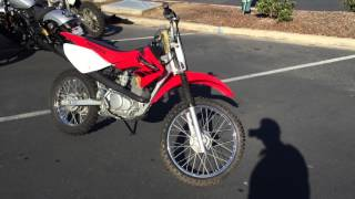 4. Contra Costa Powersports-Used 2004 Honda CRF100F green sticker 4-stroke dirt bike