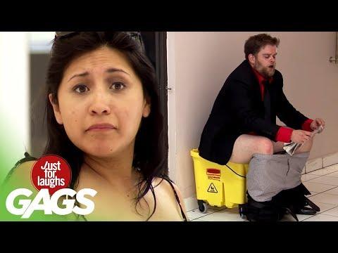 Man Poops in Mop Bucket