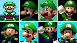 All of the Luigi characters throughout the 8 console based Mario Kart titles from 1992 to 2017.  This includes both Luigi and Baby Luigi.Mario Kart Compilations Playlist:https://www.youtube.com/playlist?list=PLYpDU5ElRBfk6j5TRumX844YrXbpMZOXO