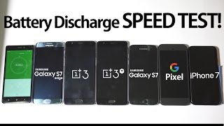 OnePlus 3T & 3 vs Google Pixel vs iPhone 7 vs Galaxy S7 & S7 Edge- Battery Discharge Speed Test!, iPhone, Apple, iphone 7
