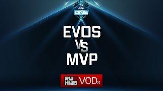 EVOS vs MVP, ESL One Genting Quals, game 1 [GodHunt, Smile]