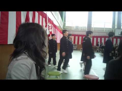 出町中学校入学式4.7.'15(jr.high school entrance ceremony )