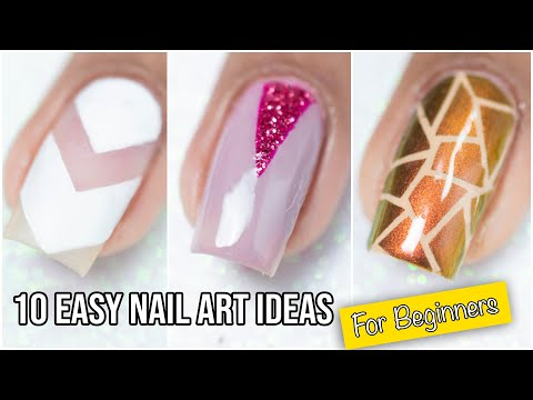 Nail designs - 10 Easy Nail Design Ideas For beginners  Nail Art Compilation
