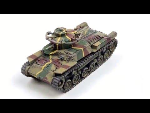 Painting Japanese Tanks (видео)