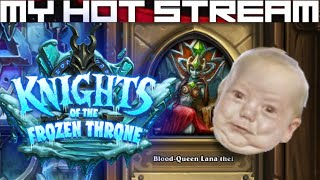 Live streams, first impressions and let's plays daily/weekly.  Hearthstone - Knights of the Frozen Throne - The Upper Reaches (Blood-Queen Lana'thel).  Cheap murloc deck ftw.████████████████████████████████████████████Beware the terrible bite of the vampiric Blood Queen!████████████████████████████████████████████Like CCGs?  Check out my other playlists at the end of the video.  Know a good CCG?  Post a comment and tell me about it, willing to play new CCGs on channel whenever I come across them!████████████████████████████████████████████SOCIALSTwitch: https://www.twitch.tv/myhotstreamFacebook: https://www.facebook.com/carlos.diadebueyesTwitter: https://twitter.com/CarlosDiaDeBueyPatreon: https://www.patreon.com/MyHotStream████████████████████████████████████████████