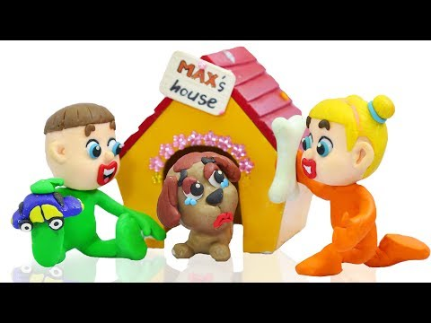 BABY PUPPY PET CARE SUPER GROOMING  Play Doh Cartoons Animation