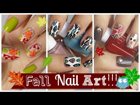 tutorials - Fall nail art tutorials are some of my favorite to do! This video features three easy designs! What one is your fav?! -My FALL/HALLOWEEN nail art playlist: http://www.youtube.com/playlist?list=PLoG...