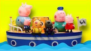 Свинка Пеппа Морское приключение на корабле Дедушки Свина Мультики для детей про Свинку Пеппу