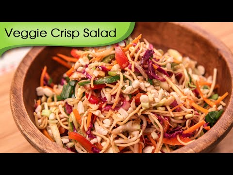 Veggie Crisp Salad – Quick & Healthy Vegetarian Salad Recipe By Ruchi Bharani