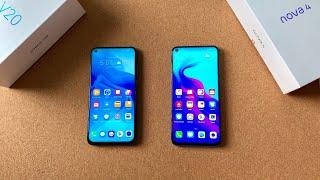 Video Honor V20 vs Huawei Nova 4 - Punch Hole Phone Battle! MP3, 3GP, MP4, WEBM, AVI, FLV Januari 2019