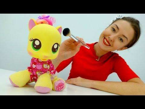 Видео для детей для самых маленьких про ПОНИ. Литлпони в салоне красоты. Игры макияж