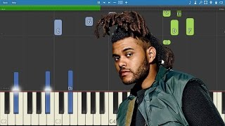 The Weeknd ft. Daft Punk - I Feel It Coming - Piano Tutorial