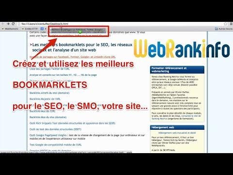 Les meilleurs bookmarklets pour le référencement et la gestion d'un site (vidéo)