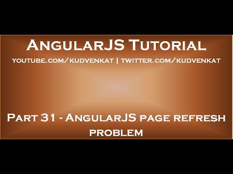 AngularJS page refresh problem