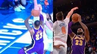 Mario Hezonja Game-Saving Block on LeBron James ! Lakers vs Knicks