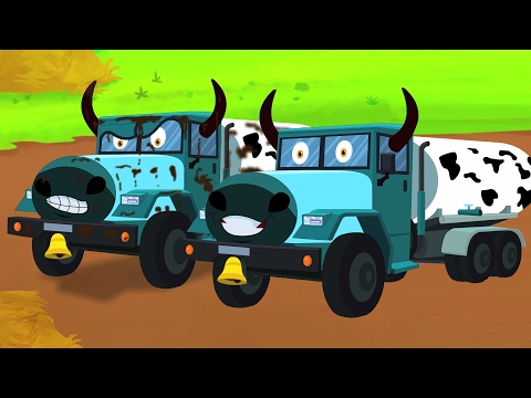 Sapi truk | cuci mobil | video pendidikan | Vehicles For Kids | Kids Videos | Car Wash | Cow Trucks