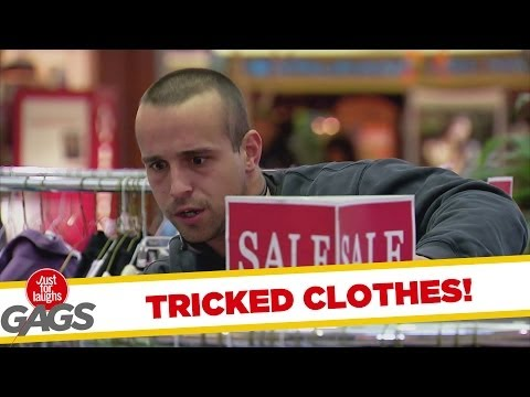 Tricked Clothes Rack Prank