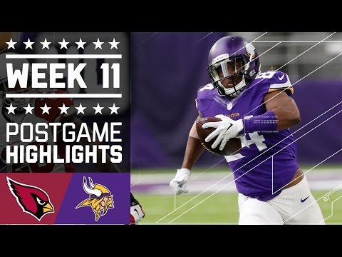 Cardinals vs. Vikings   NFL Week 11 Game Highlights