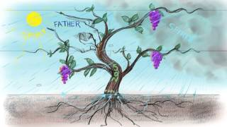This is a picture of Jesus' metaphor of the Vine in John 15. In this image we see the perichoretic power (the power of indwelling) that is the heart of the G...