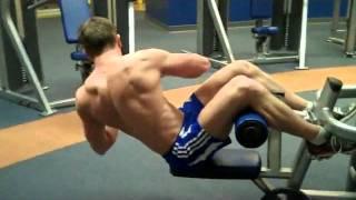 تمارين كمال اجسام لعضلة البطن( تمرين 1)