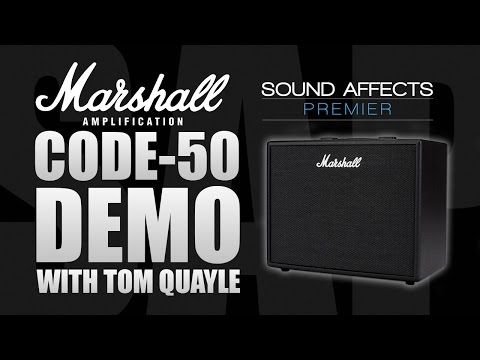 Marshall CODE 50 Bluetooth Guitar Combo Amplifier Demo Review