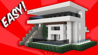 Minecraft: How To Build A Small Modern House Tutorial (EASY, CUTE, COMPACT Minecraft Starter House)