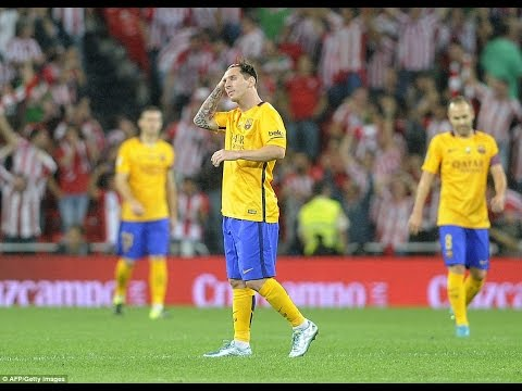 Lionel Messi Vs Athletic Bilbao (Away) (Super Cup) 14/08/2015 HD