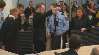 Norway Mass Killer Anders Breivik Gives Far Right Salute As He Arrives In Court