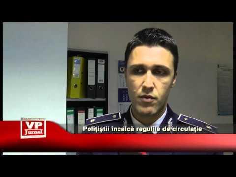 Polițiștii încalcă regulile de circulație