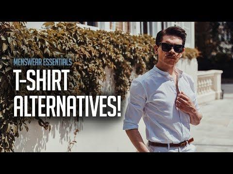 Mens hairstyles - Men's T-Shirt Alternatives  Men's Summer Style 2018