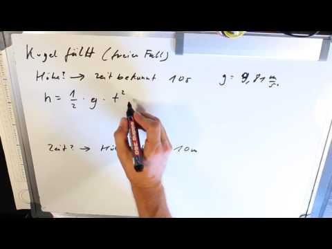 Freier Fall - Zeit und Höhe berechnen