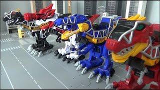 Video Power Rangers Dino Charge 4 Dinosaur Megazord Toys Transformation 파워레인저 다이노포스 4대 공룡 로봇 장난감 변신 MP3, 3GP, MP4, WEBM, AVI, FLV Maret 2019